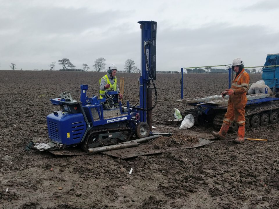 New Dando Terrier / Rotary Rig Raeburn fleet. Raeburn Drilling, Scotland, Uk.
