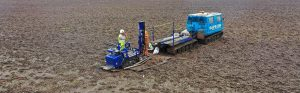 Drilling in a field